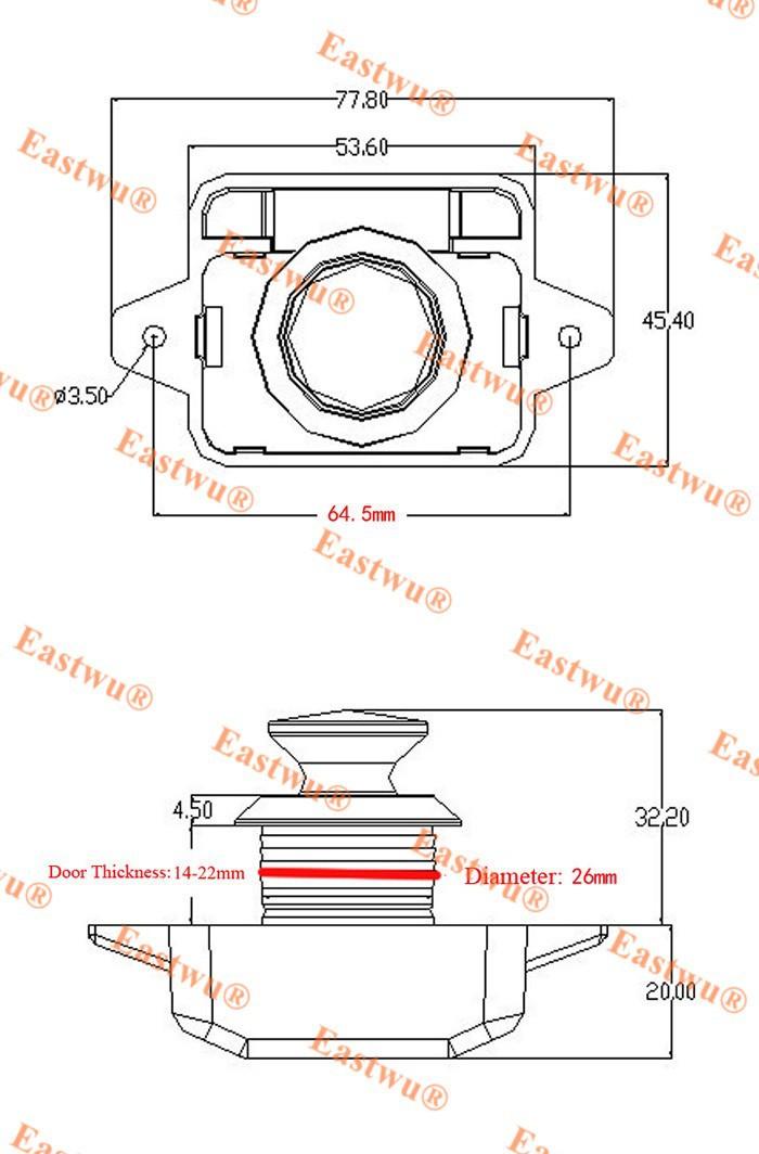 Wholesale-Keyless Belt Pull Push Button Rv Drawer Cabinet Lock Matt Nickel  motor home caravan boat lock