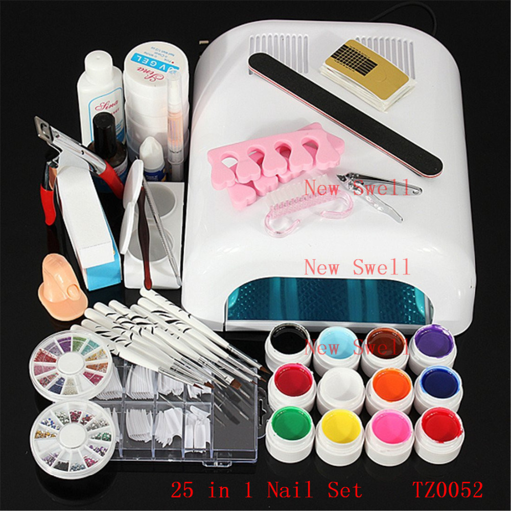 Professional Nail Art Set Acrylic Liquid Glitter Powder