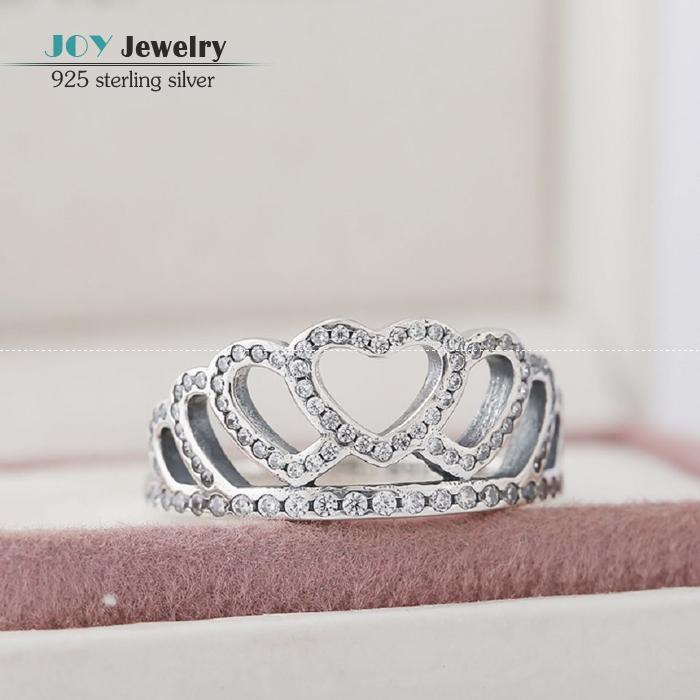 e9b4bde0c43 ... pandora forever pandora ring 2016 autumn clear cz micro pave hearts  tiara rings for women 925