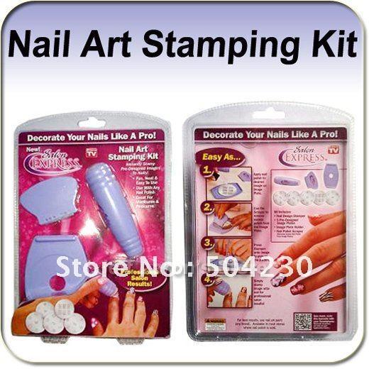 NEW Salon Express Nail Art Kit Stamping Art Set TV Hot