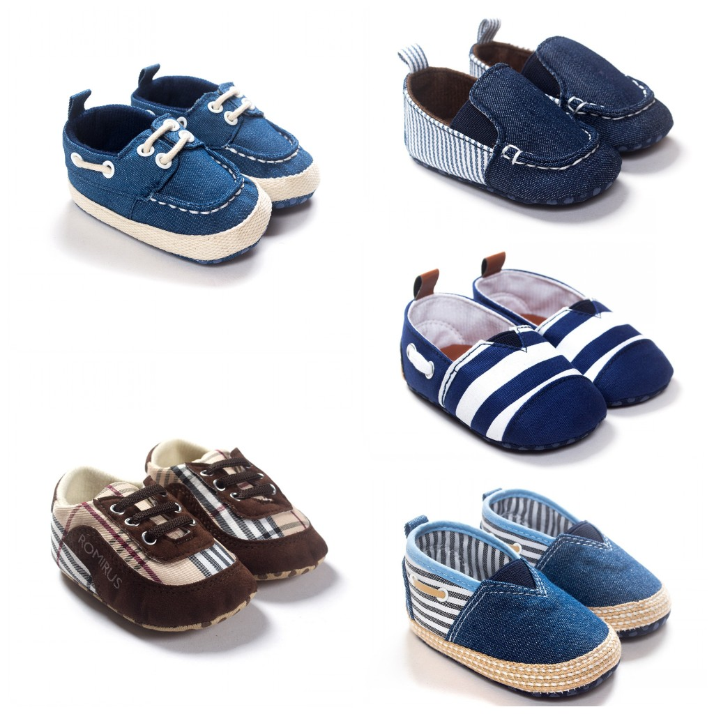 New Arrival 2016 Fashion Canvas Baby Shoes Stripe Checkered Sneakers For Boy And Girls Toddler Shoes