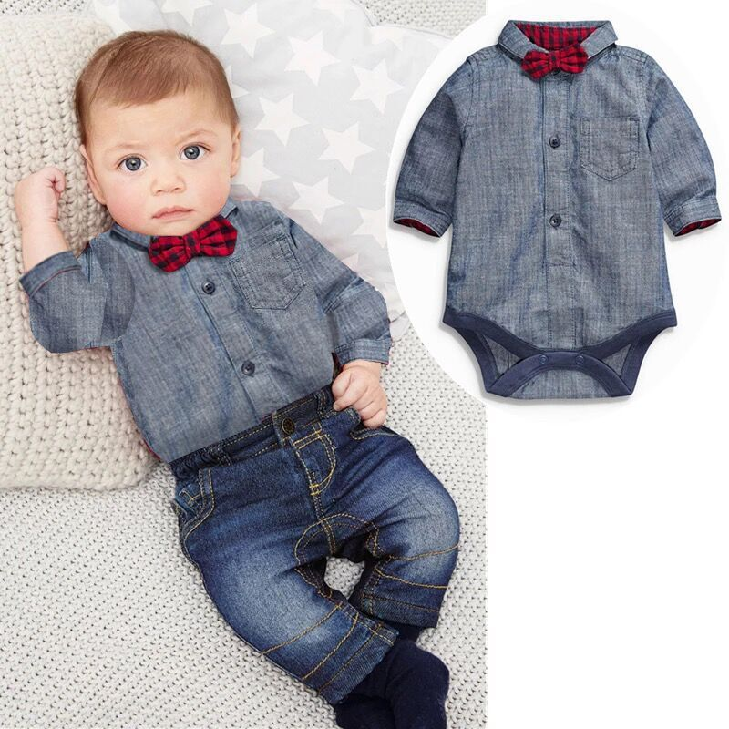 9654fd52451b3 Free shipping baby bebes boys clothes set Romper + pants boy girl clothing  infant Autumn Spring children suits