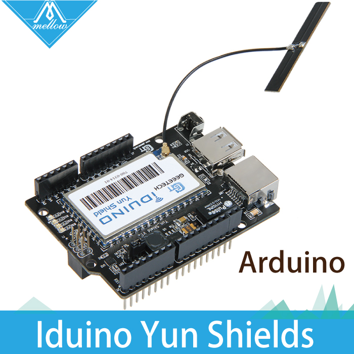 Free shipping Yun Shield Linux WiFi Ethernet USB All in oneCompatible with Arduino Leonardo UNO Mega2560