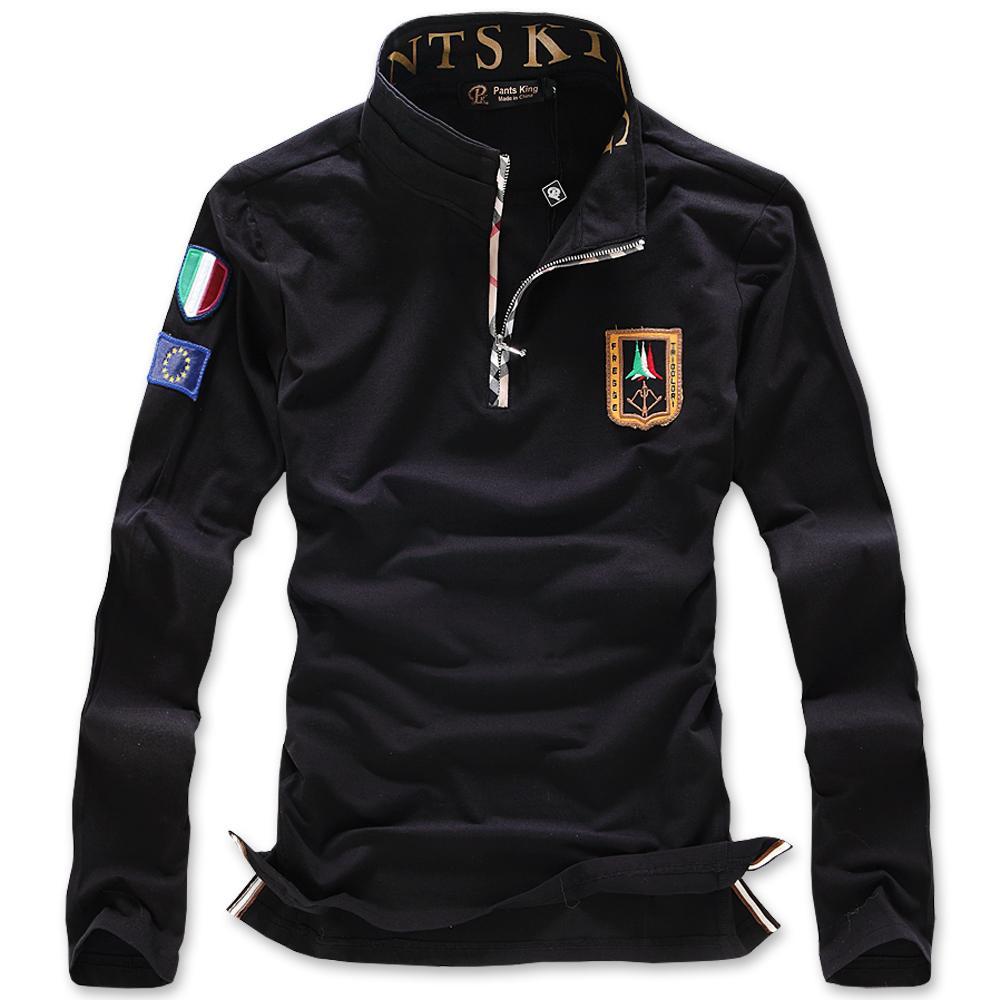 2015 nouveau 100 coton automne hommes solides Polo marque Logo Embroid mode  Slim Fit v%C3%AAtements hauts. polo vetement 2015 871fe2816a48