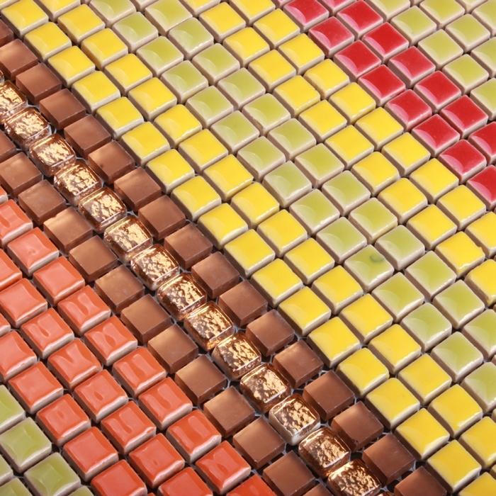 Colorful mini ceramic mosaic tile for bathroom shower for Perfekt mosaik bordure