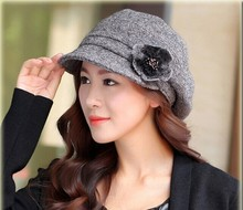 Free shipping 1pcs 100% wool Fedoras 2016 hot autumn winter fashion ladies fashion hat multicolor
