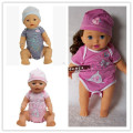 Doll clothes cute blue jumpsuits hat wear fit 43cm Baby Born zapf Children best Birthday Gift