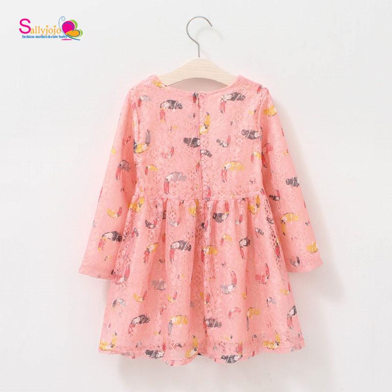New Sweety Pink Owl Prints font b Children b font Summer Hollow Tulle font b Dress