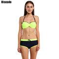 Riseado Sexy Bikini Set maillot de bain Sport Swimsuit Swimwear Women 2016 Brand Straight Shorts Push