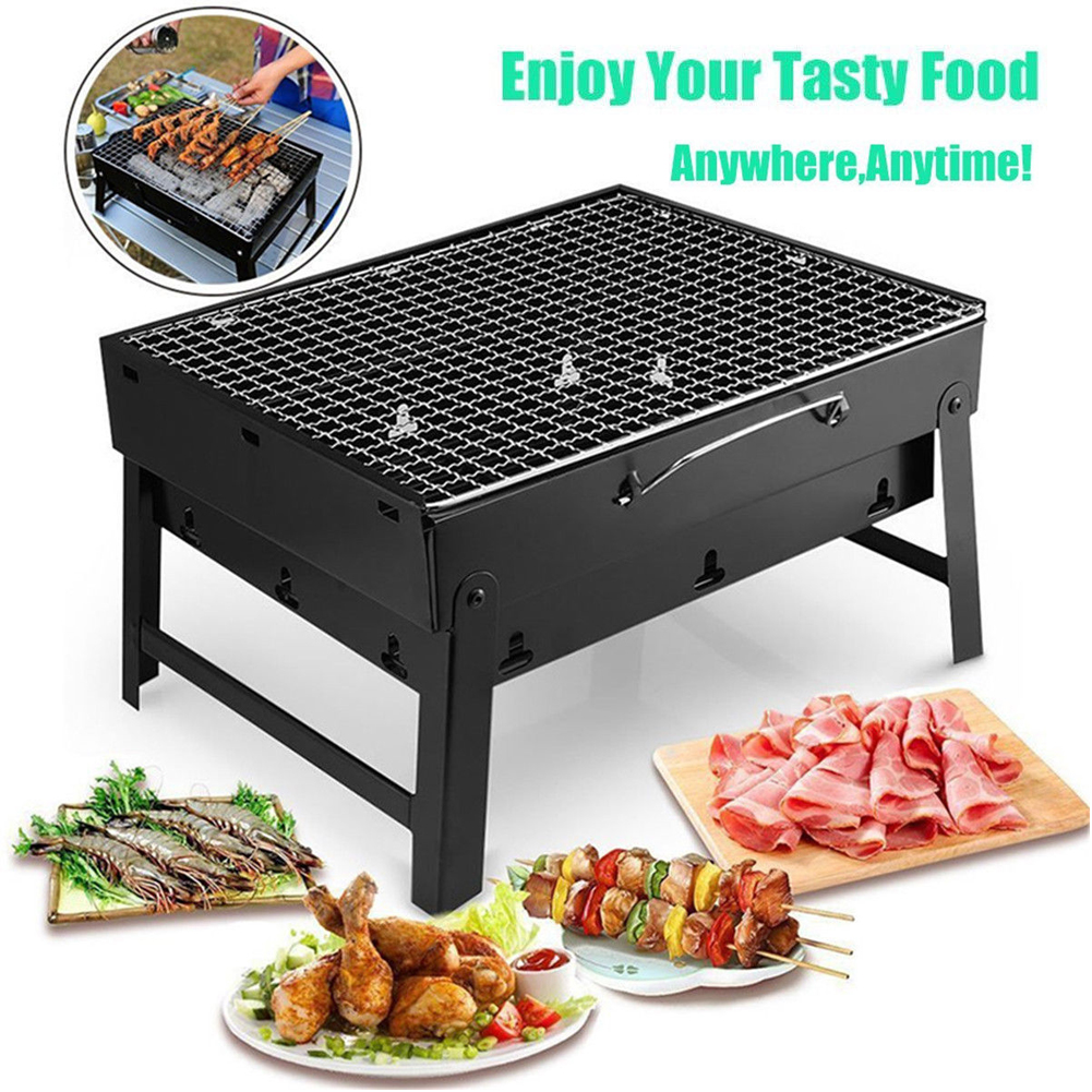 V GEBY Grill Grill Outdoor Portable Faltbare Mini Barbecue Picknick Camping Grill Holzkohleofen Herd
