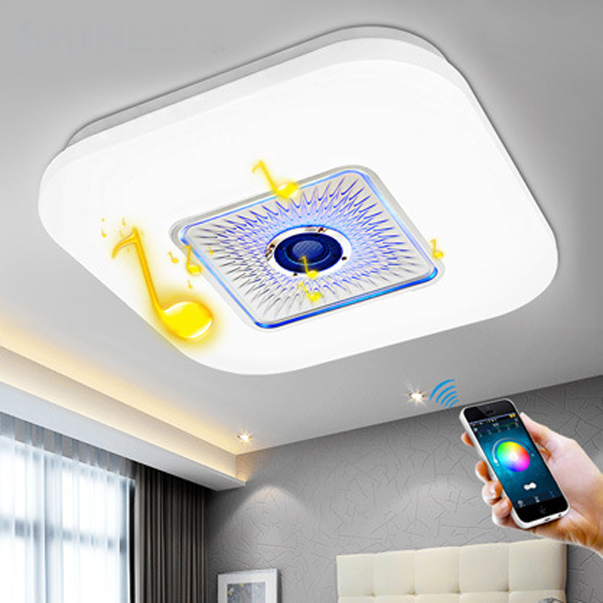 New dimming led ceiling lamp bedroom lamp minimalist modern music Bluetooth living room ceiling light home decor Lighting