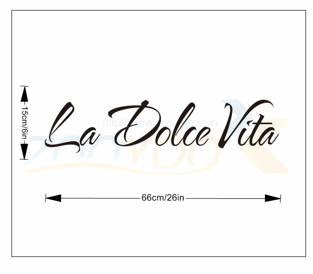 la dolce vita film home decor creative quote wall decal zooyoo8060 decorative adesivo de parede removable vinyl wall sticker