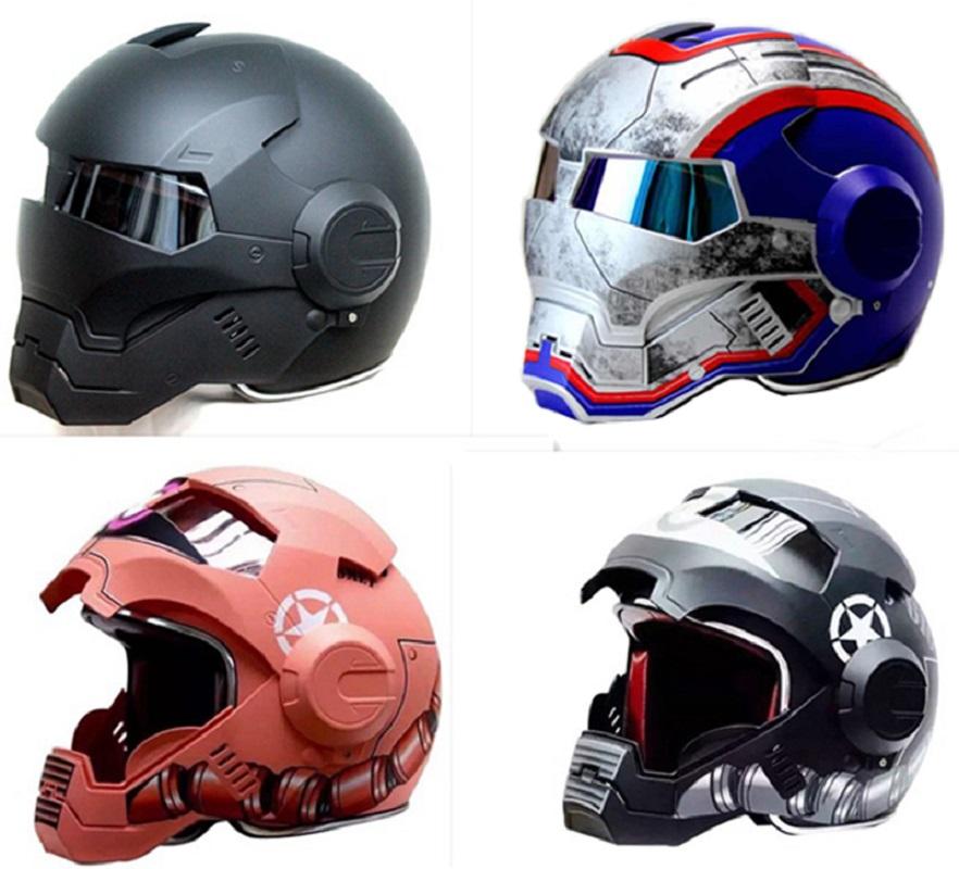 achetez en gros iron man casque de moto en ligne des grossistes iron man casque de moto. Black Bedroom Furniture Sets. Home Design Ideas