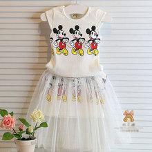 ** 2016年夏天品牌棉質女童童裝(2件式->上衣+裙子)