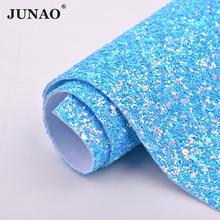 JUNAO 20*34 см красочные Блестящие Блестки Синтетическая кожа искусственная кожа ткань пайетки ткани листы DIY ремесла(Китай)