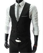 2015 New Arrival Dress Vests For Men Slim Fit Mens Suit Vest Male Waistcoat Gilet Homme Casual Sleeveless Formal Business Jacket