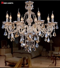 8 Lights Crystal Chandeliers lighting living room lamps bedroom lamp modern chandelier Crystal Top K9 Lamp