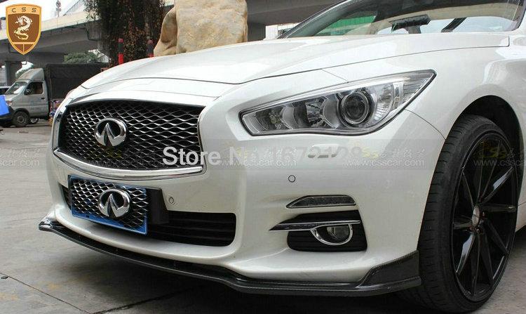 Front Bumper Lip For Infiniti Q50 Q50l Stillen Carbon