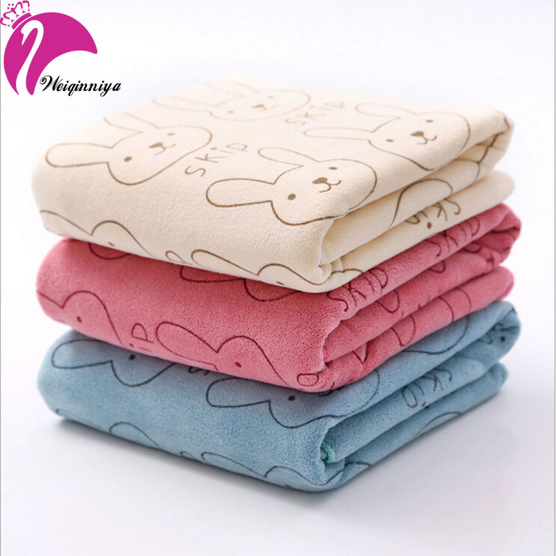 New 2016Microfiber baby small towel Brushed strong absorbent baby bath kids cartoon printing soft children towels