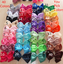 6 inch Large hair bow WITH clips 40 colors For you choose Girl hairbow Boutique Hairpins