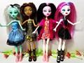 4pcs lot New style monster fun high Dolls Monster Draculaura hight Moveable Joint children best gift