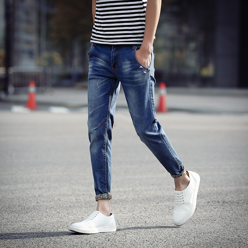 Wholesale New Summer 2016 Mens Jeans Pant Thin Skinny