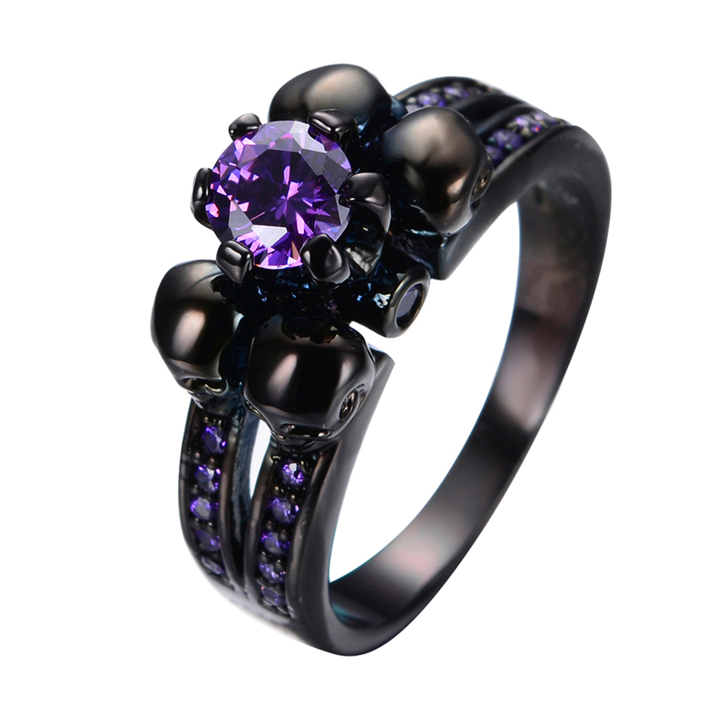 Aliexpress.com : Buy Purple Amethyst Skull Jewelry Women