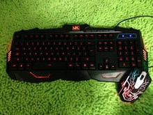 Hot NEW USB 3 color Backlight illuminated multimedia keyboard and mouse combos wholesale promotional discounts teclado