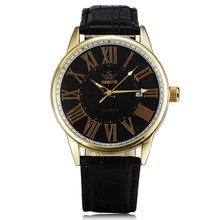 Мужские автоматические механические часы SEWOR, брендовые дизайнерские деловые часы с календарем, кожаные Наручные часы под платье, новинка ...(Китай)