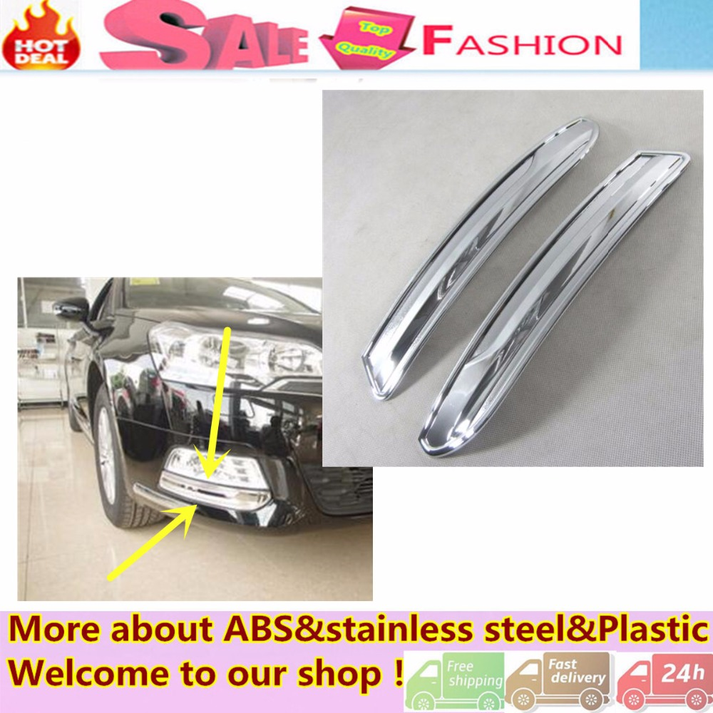 high quality car styling cover detector abs chrome lamp front fog light trim frame accessories. Black Bedroom Furniture Sets. Home Design Ideas