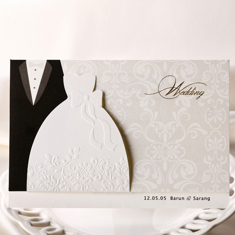 Wedding Invitation Message From Bride And Groom: Bride And Groom Style Wedding Invitations Cards, Printable
