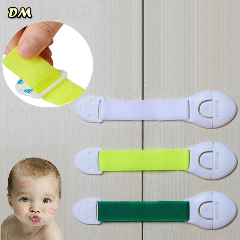 New safety Fedex/DHL, 3M Sticker Baby Safety Lock Multipurpose Cabinet Lock Children Kids Drawer Lock Refrigerator Lock 1000pcs
