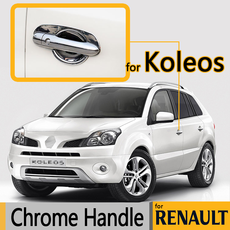 for renault koleos luxurious chrome door handle covers 2009 2010 2011 2012 2013 2014 2015. Black Bedroom Furniture Sets. Home Design Ideas