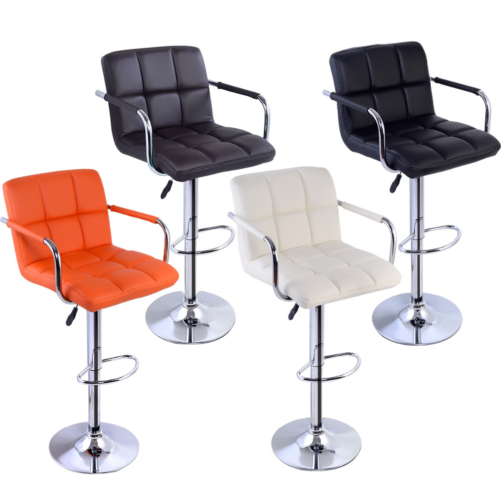 Office Bar Furniture: Bar Stools Bar Chair With PU Leather And Chromed Plated