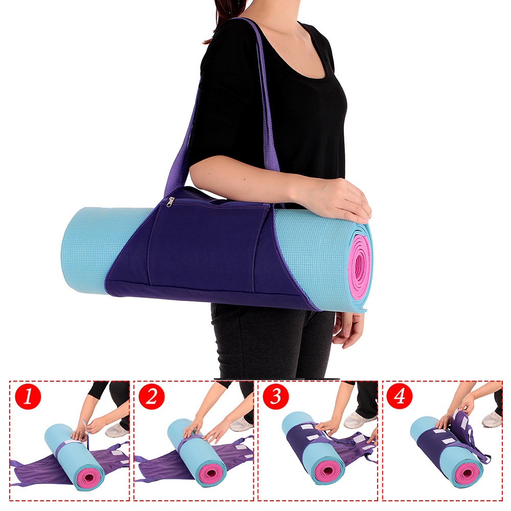 21405ab2e55a 2019 Women Yoga Mat Bags Carrier Exercise Yoga Mat Bag With Multi ...