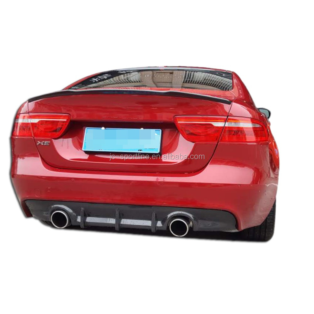 Jaguar Xe Rear: Jc Sportline Carbon Fiber Rear Trunk Spoiler Fit For