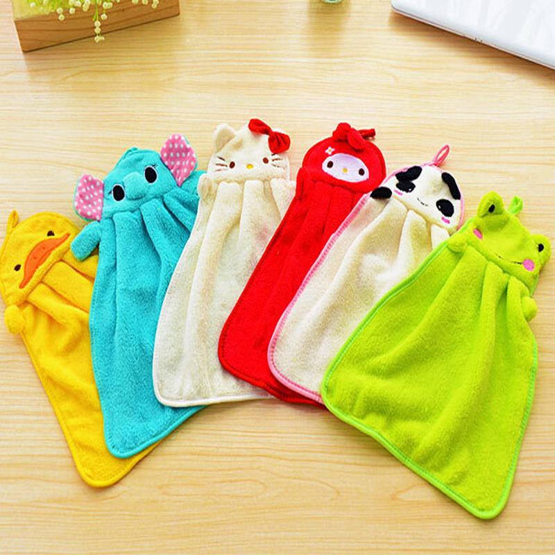 Cute Cartoon Microfiber Hanging Kitchen Hand Towels Bulk