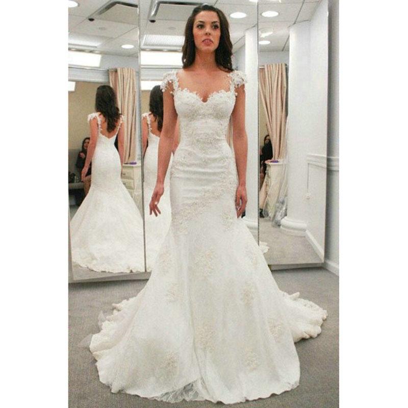 Aliexpress.com : Buy 2016 Mermaid Wedding Dresses Cap
