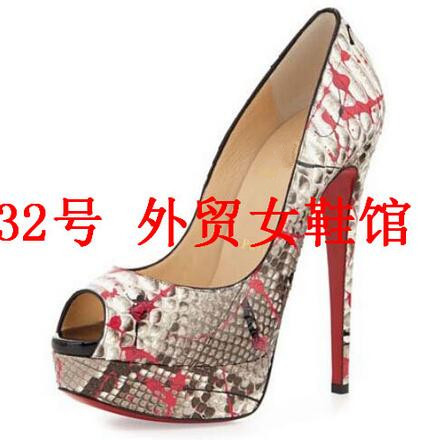2e57bf7babda Aliexpress.com   Buy cheap peep toe pumps red bottom shoes woman . ...
