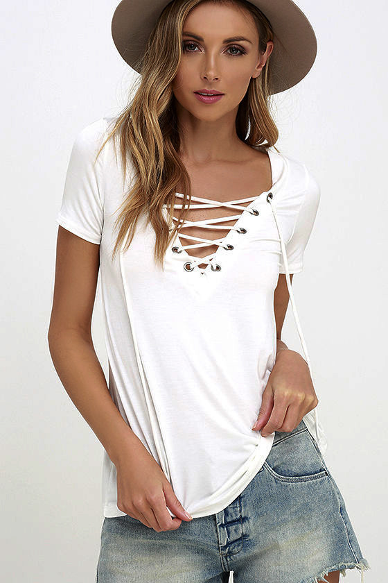 6 Colors Trendy T-Shirt  V-neck Criss Cross Women T Shirt Summer Style Short Sleeve Tops Hollow Out Top femme top tee tshirt