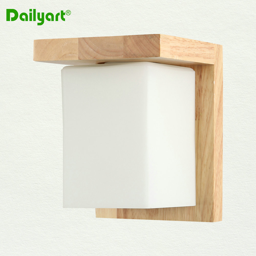 Cheap Wood Acrylic Wall Lamp Wall Sconce Nordic Fashion