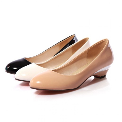 Low Height Pump Shoes Women