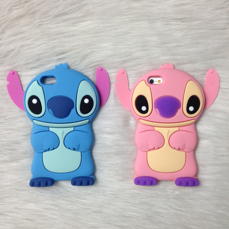 finest selection 85171 ca1d1 3D Stitch Soft Silicone Phone Case For Iphone 7 7 Plus 6 6S 6Plus 5 5S SE 4  4S Cute Animal