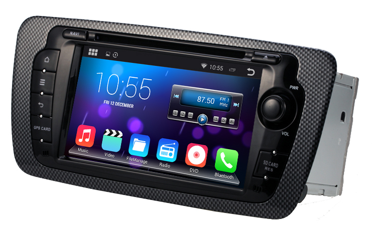android 4 4 4 stereo for seat ibiza 2009 2013 gps radio. Black Bedroom Furniture Sets. Home Design Ideas
