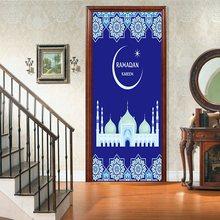 77x200 см красивый пейзаж наклейка на дверь домашний Декор 3D самоклеющиеся водонепроницаемые обои для спальни наклейка-фреска для комнаты(Китай)