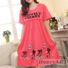Women cute cartoon casual breast feeding summer nursing pajamas short sleeve maternity clothing pijama lactancia FF926