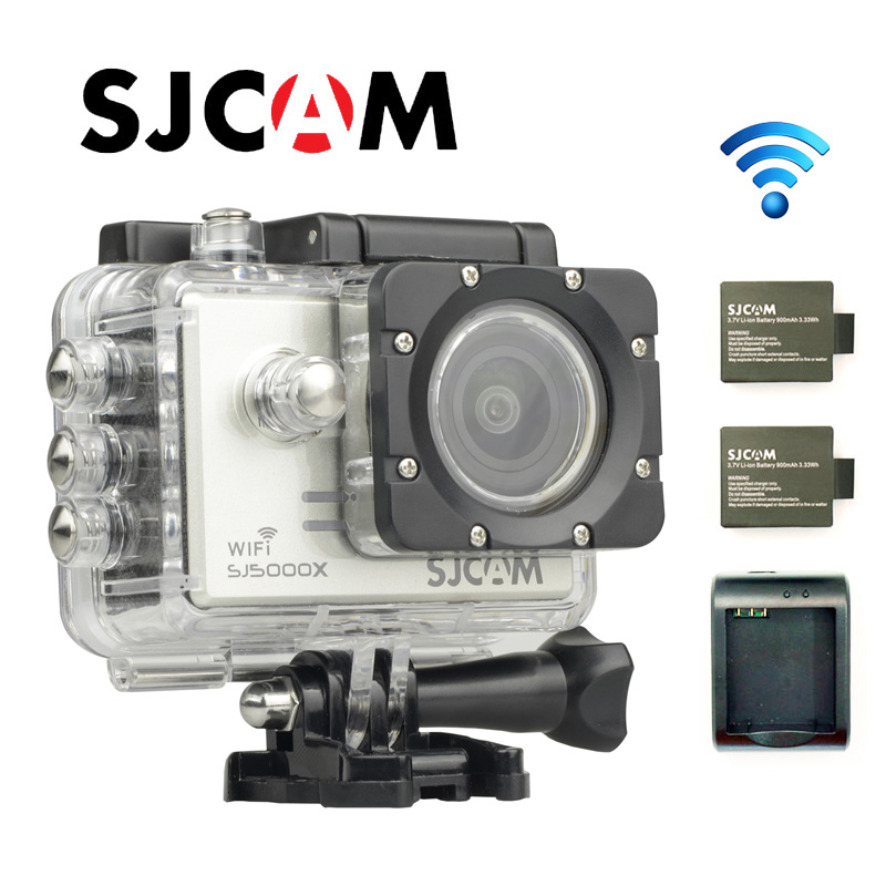 Free shipping!!Original SJCAM SJ5000X Elite WiFi 4K 24fps Diving 30M Waterproof Action Camera+Extra 2pcs Battery+Battery Charger
