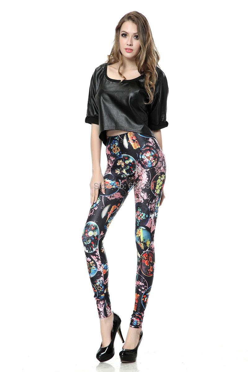 Palicy New Fashion Galaxy Printed Leggings Girls' Black ...