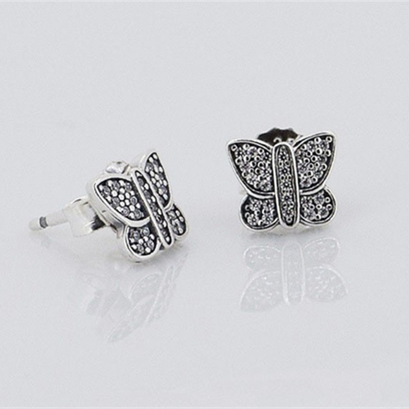 Pandora Interchangeable Earrings: Authentic 925 Sterling Silver Earrings Studs Compatible