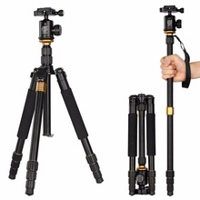 2016 QZSD Q999S Magnesium Aluminum Alloy Compact Portable Traveling Tripod Monopod Stand with Tripod Ball Head and Carrying bag